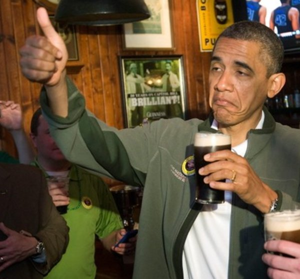 Obama drinking beer approves this